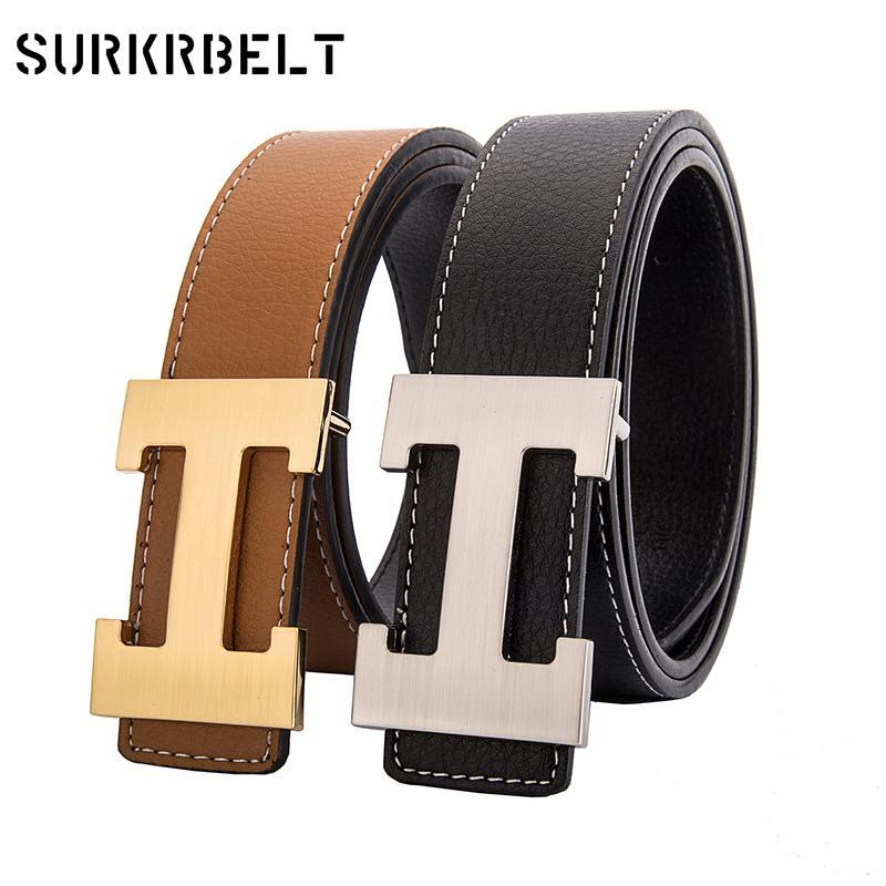 60475c7bf59 Compre H Diseñador De Marca De Lujo Cinturones Para Hombre De Cuero Genuino  Hombre Mujer Casual Jeans Moda Moda Correa De Cintura De Alta Calidad A   33.82 ...