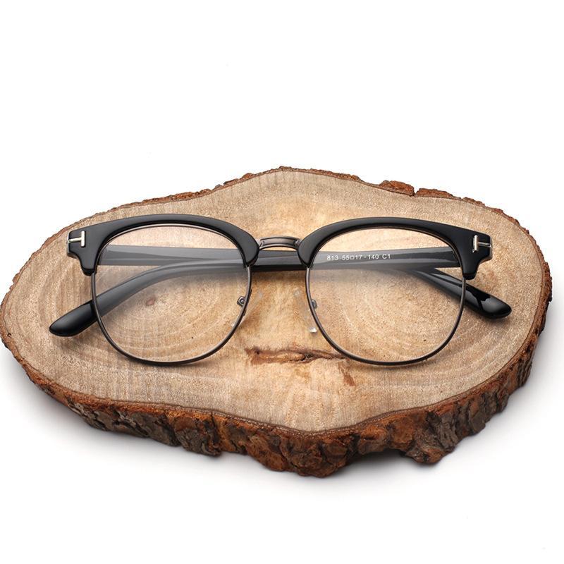 c23b422ac0e54 Compre Vazrobe Semi Sin Montura Gafas Hombres Mujeres Marca Anteojos  Recetados Marcos Hombre Mujer Gafas Moda Lente Clara A  21.93 Del  Shuidianba