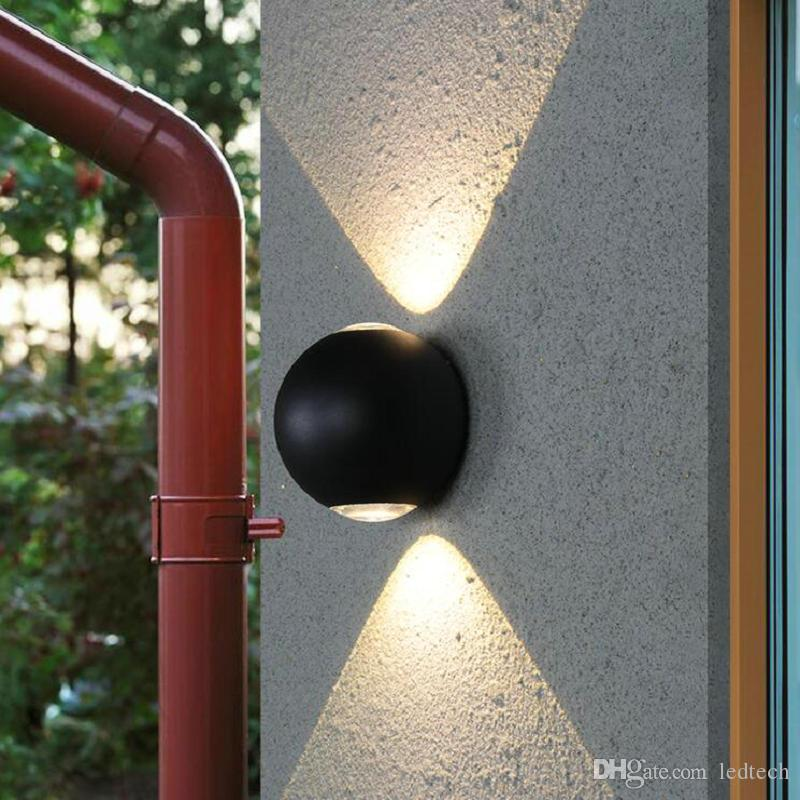 Double 12W Spherical Modern Surface Mounted Outdoor