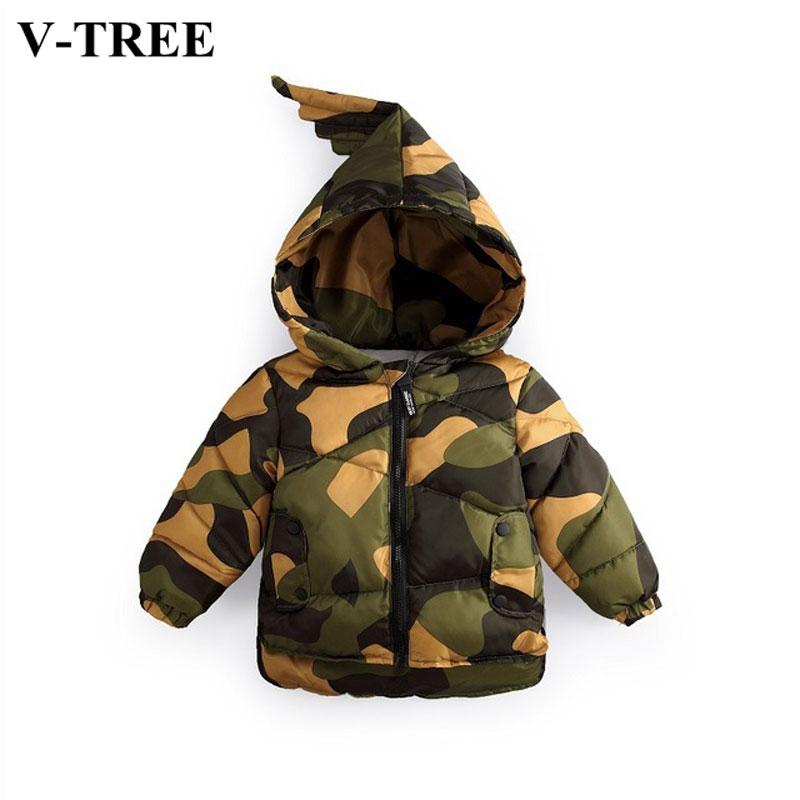 6ade4d8a1b93 Winter Boys Snow Wear Camouflage Jacket For Boy Thicken Girls Winter ...