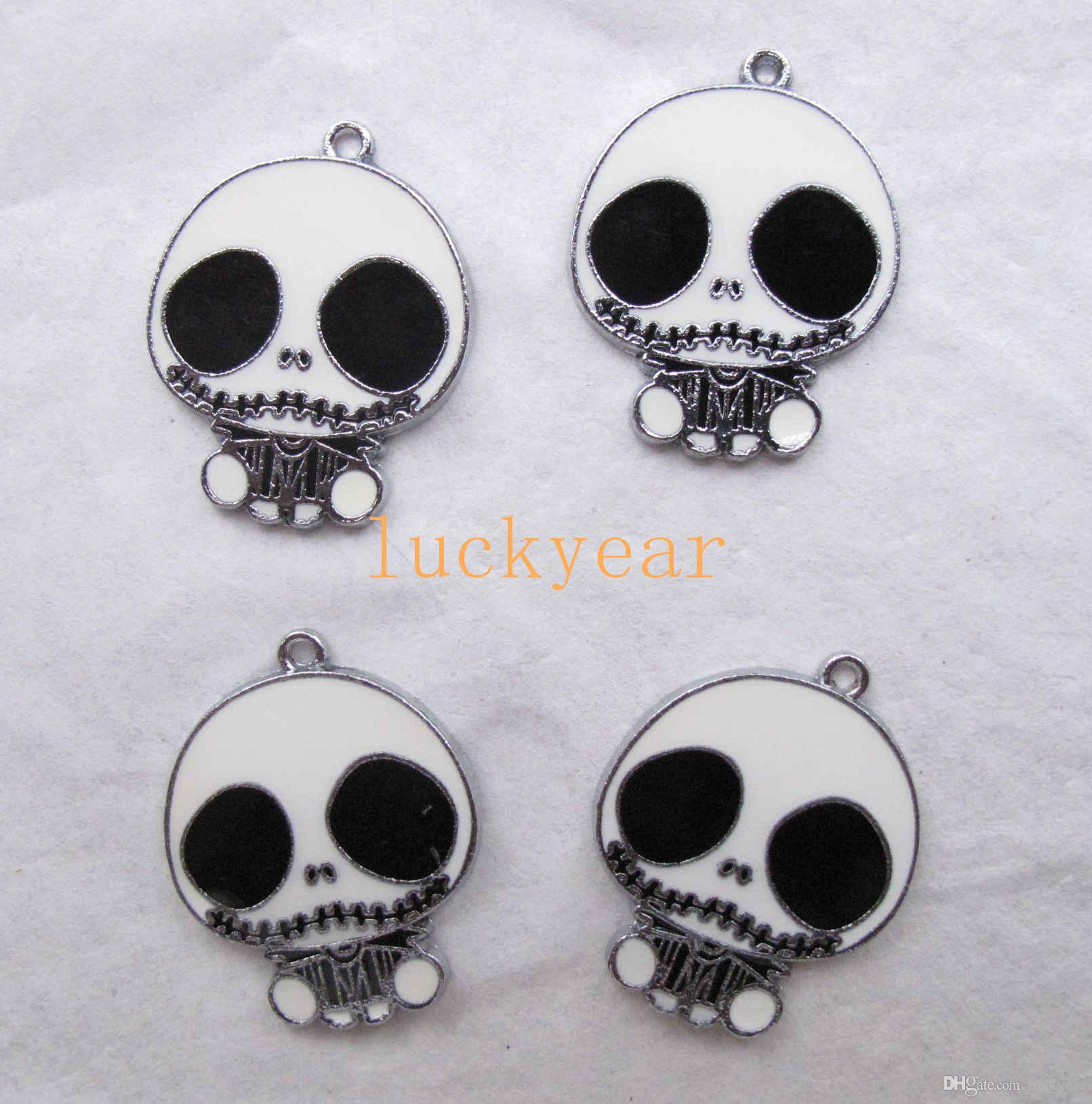 New The Nightmare Before Christmas DIY Jewelry Making Metal Charm Pendant Jewelry Making Party Gifts B69