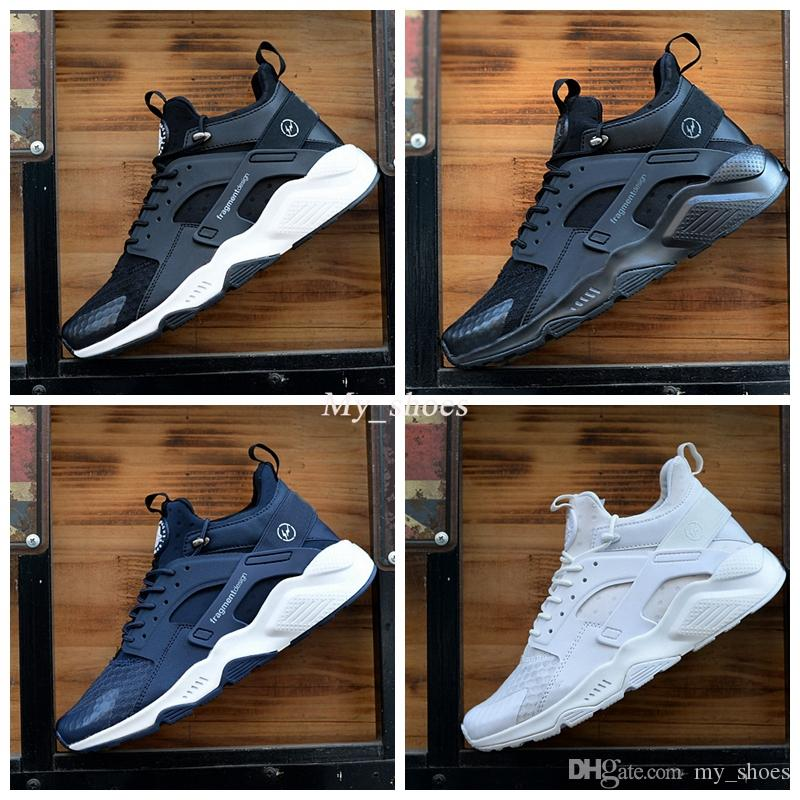 quality design 8438e 6bb96 2019 2018 New Huarache 6 X Fragment Design MID Leather Huaraches Ultra  Sport Running Shoes Men Women Huraches Designer Sneakers Hurache Size 7 11  From ...