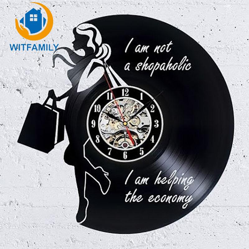 classic modern shopaholic cartoon 3d wall clocks vinyl record rh dhgate com