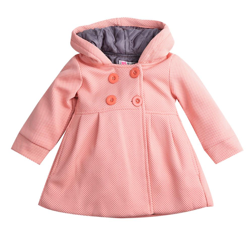 3608b610ebc8 Toddler Kid Fall Winter Horn Button Hooded Baby Girl Winter Warm ...