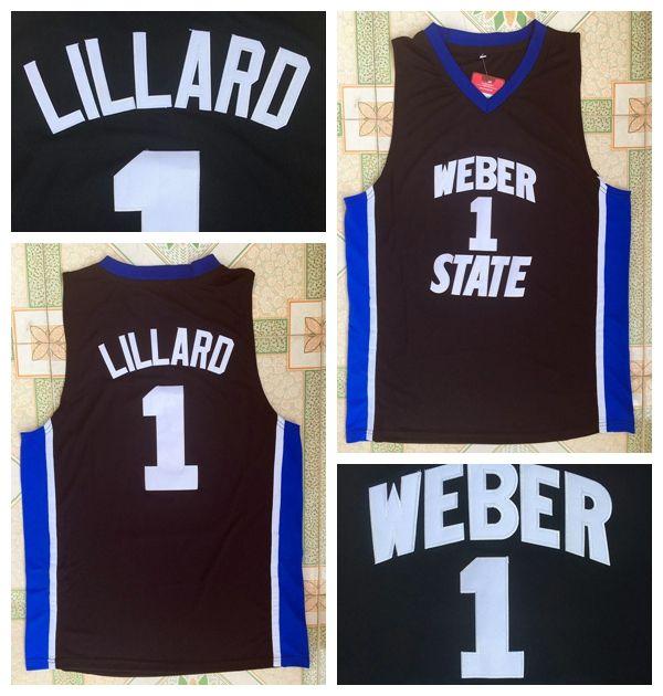 Weber State Jersey 0 Damian Lillard Jerseys University Black Men s Damian  Lillard College Basketball Jerseys Stitched Shirts Damian Lillard Jersey  Damian ... 30393947f