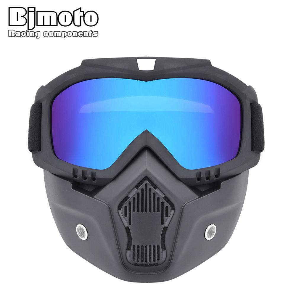 1776b8458c Motorcycle Motocross Goggles Glasses Face Mask with Detachable Mouth Filter  Dust Mask For Modular Open Face Helmets Motorcycle Glasses Cheap Motorcycle  ...