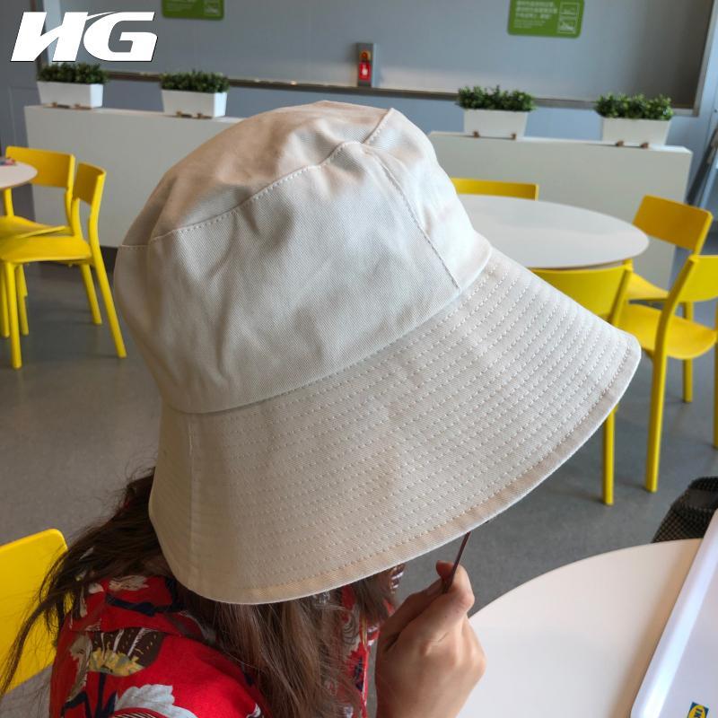 hg korea 2018 new arrival casual women solid color flat bucket hats rh dhgate com