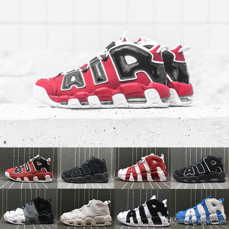 new arrivals d55af 12c77 Großhandel Mehr Uptempo Qs Olympische Stiere Varsity Maroon Black Mens  Frauen Basketball Schuhe Pippen S 3m Scottie Casual Schuhe Sneakers Von  Super age, ...