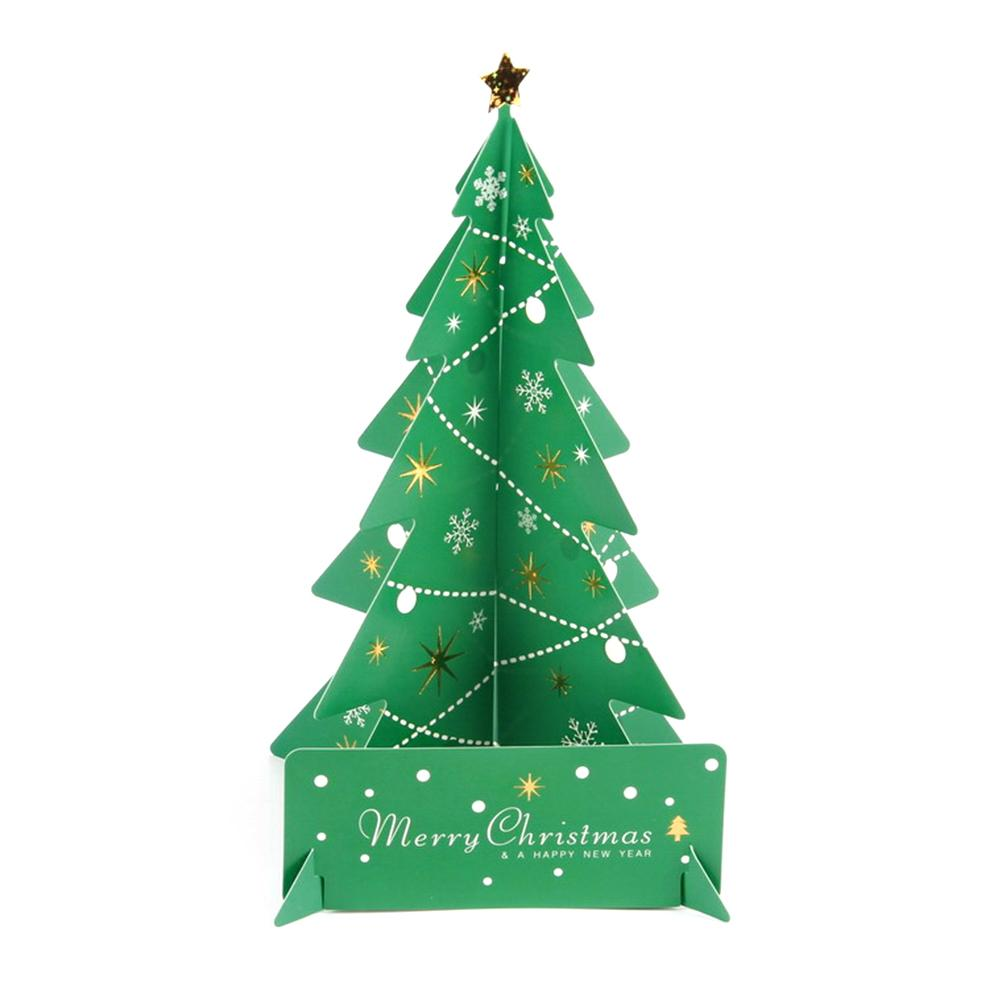 Compre Navidad Escritorio Mini Decoración Papel Pequeño Árbol De ...