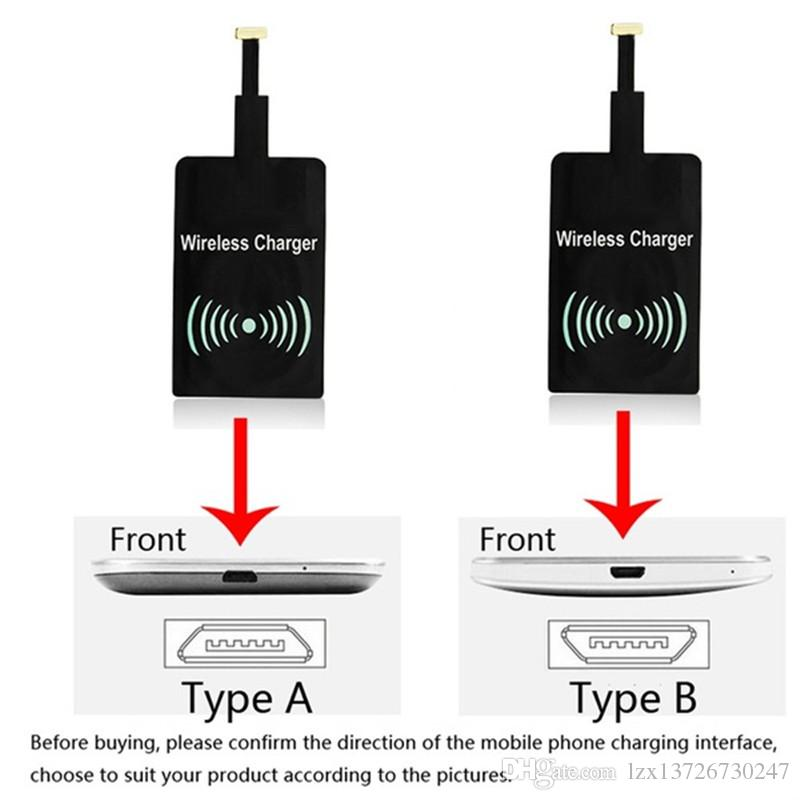 Universal Qi Wireless Charger Transmitter Patch Receiver for Samsung iPhone7 6 6s 5 5s Samsung Xiaomi Huawei