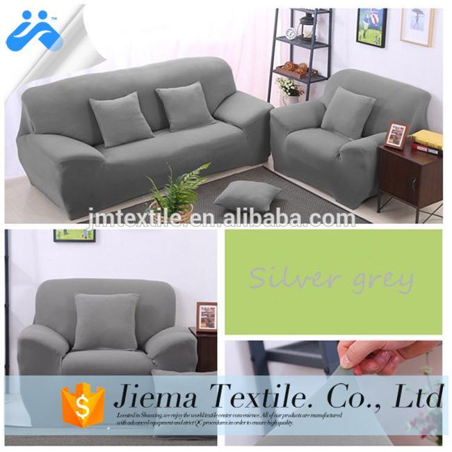 diseño de cubierta de sofá de tela elástica con forma para sofá de cuero