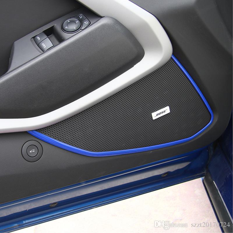 Araba Kapı Iç Dekorasyon Trim Sticker ABS 4 Renk Için Chevrolet Camaro 2017 + Oto İç Aksesuar