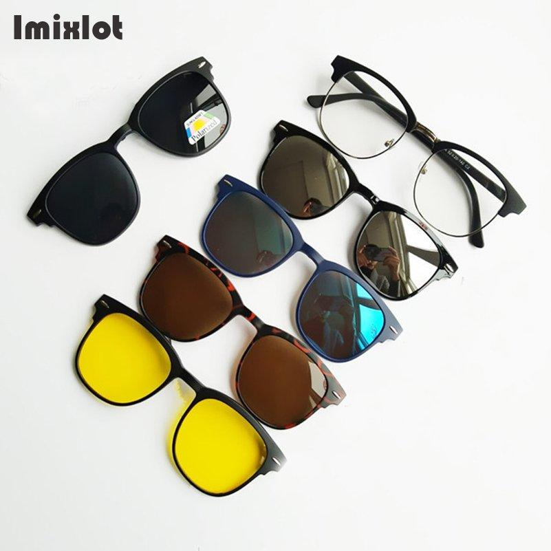 6057042e71 Wholesale Magnet Sunglasses Clip On Eyeglasses Magnetic Sunglasses Lens  Polarized Brand Designer Myopia Sun Glasses Glasses Frame Eyeglasses  Sunglasses Hut ...
