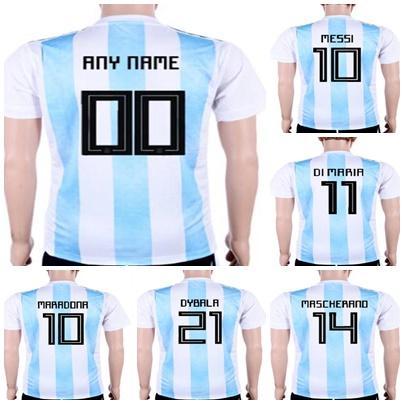 511b82af6fe Mens Womens Kids Custom 2018 World Cup Argentina Soccer Jerseys Home ...