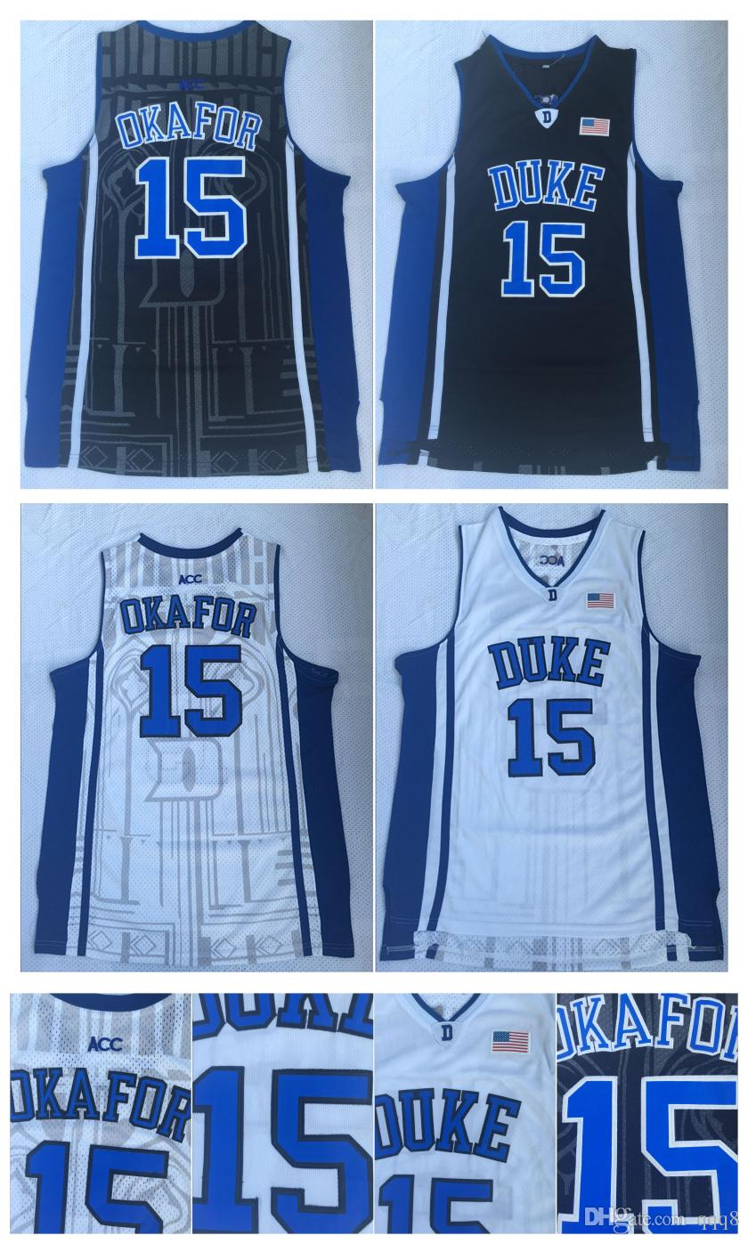 76f761a4c47 ... 2019 15 jahlil okafor jersey duke blue devils ncaa jersey best quality  black white stitched college