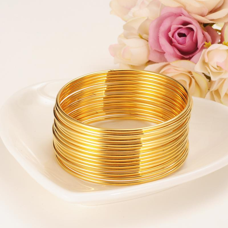 24k Gold Women Gold Big Dubai Bride Wedding Ethiopian Bracelet