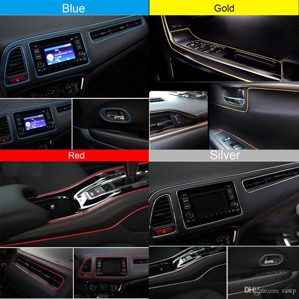 RASTP -Car Styling 196.8 polegada / 5 M Molduras Interiores Do Carro Tira Enchimento Decorativo AUTO Vedação Guarnição Faixa Para Universal Car Styling Ford Focus Cru