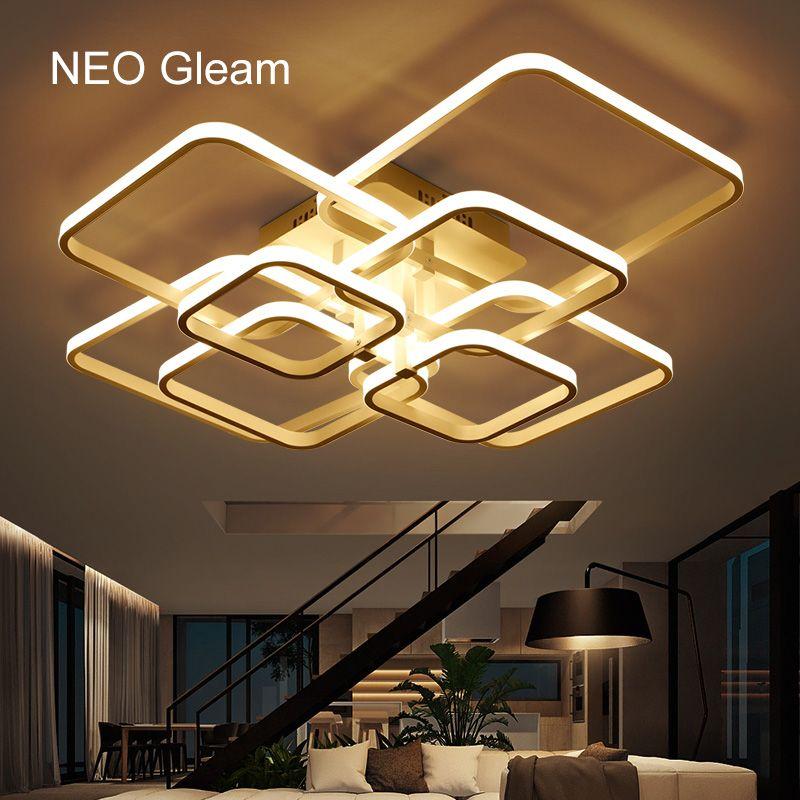 2019 neo gleam rectangle acrylic aluminum modern led ceiling lights rh dhgate com