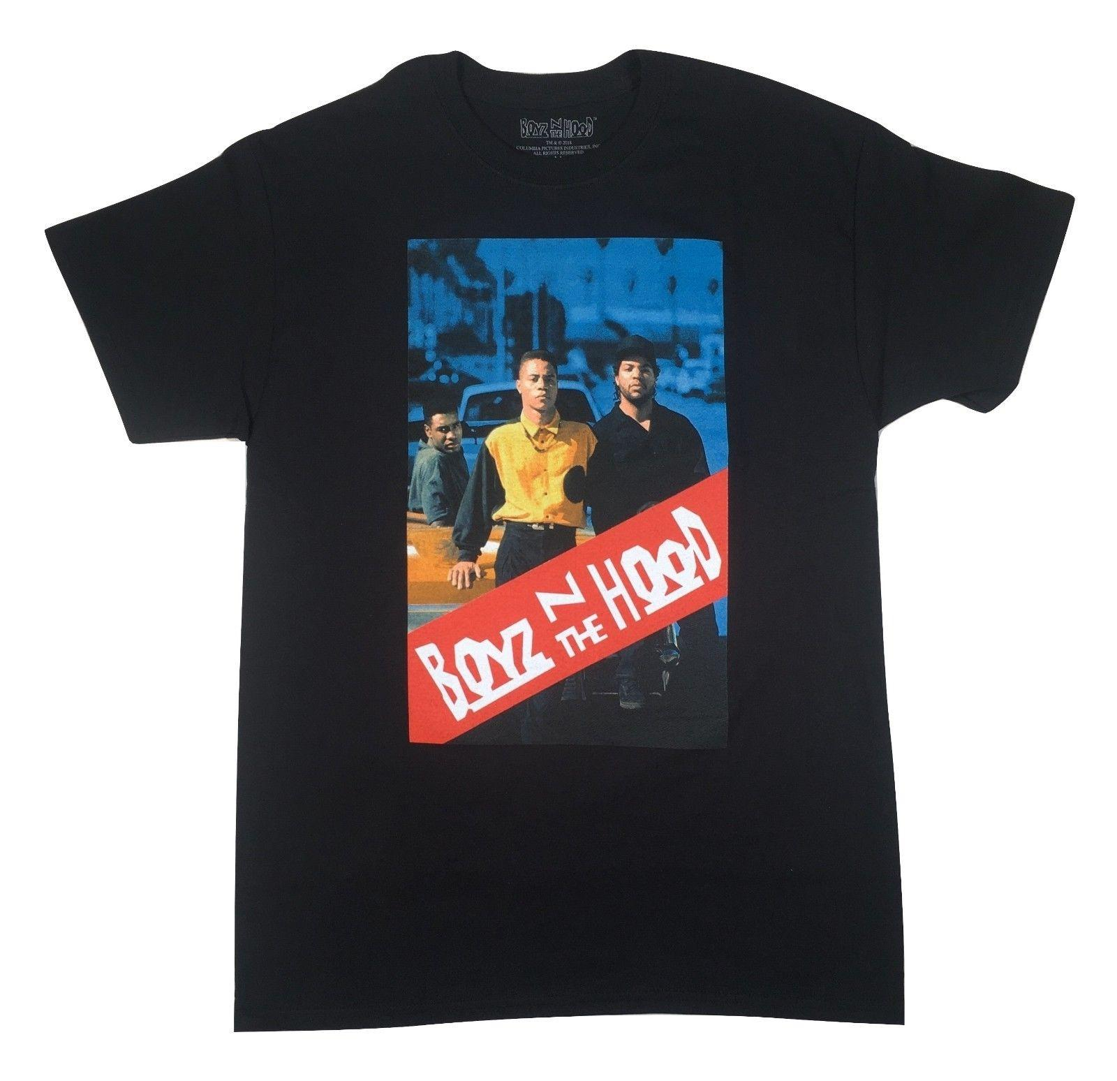 94be83fb1221 Boyz N The Hood Movie Poster Black T Shirt Menace To Society Compton NWA  Dre Ice Design And Buy T Shirts Tee Shirt Online Shopping From No1tees43