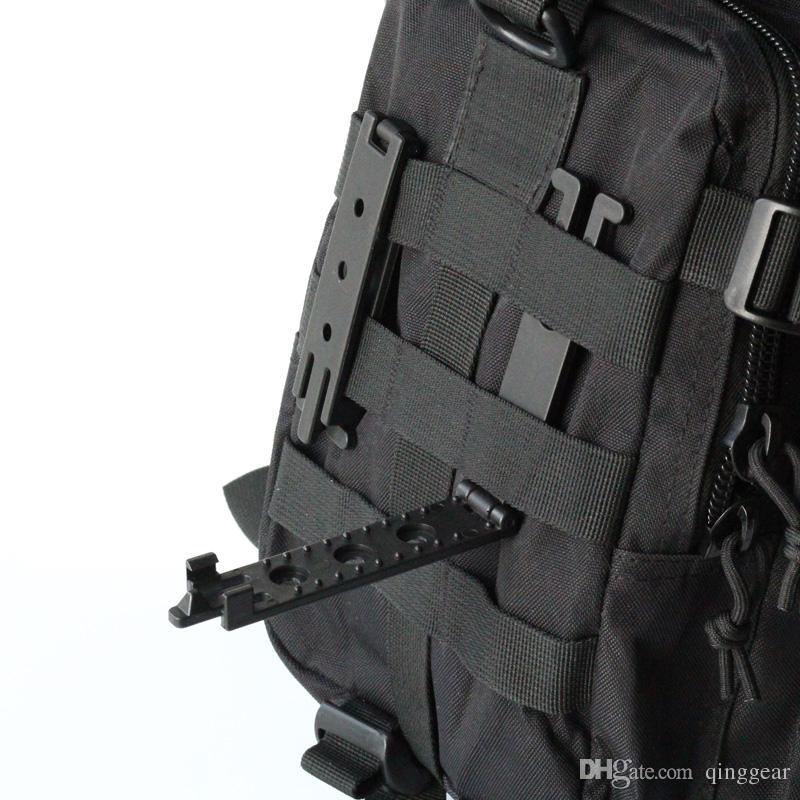 10 ADET Molle Sistemi Için QingGear Molle Lok Mag Taşıyıcı Molle Kilidi Takarak Cihazı DIY Bıçak Kılıf Kılıf Ile Vidalar Taktik Aksesuarları