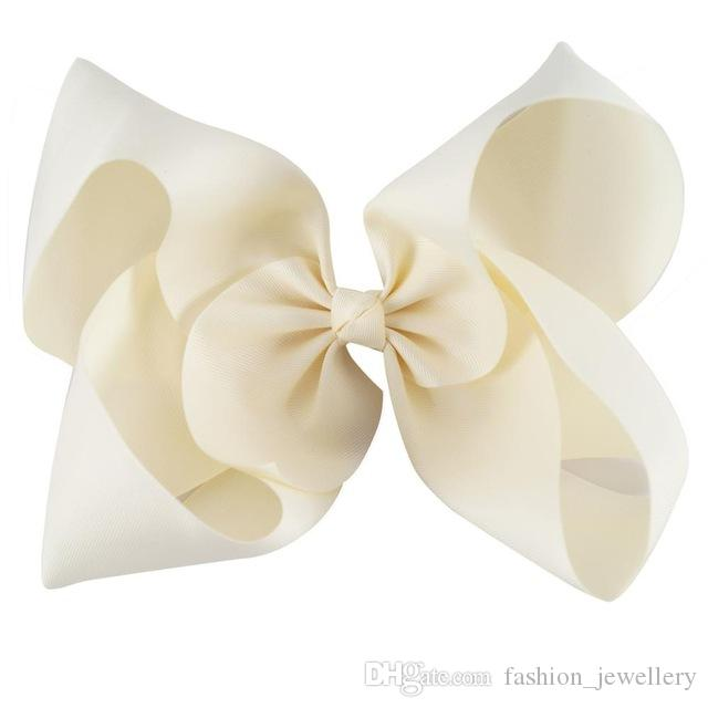 10 Inch Large Solid Grosgrain Ribbon Hair Bow For Pretty Girls Children Kids Hairgrips Headwear Handmade Hair Accessories./