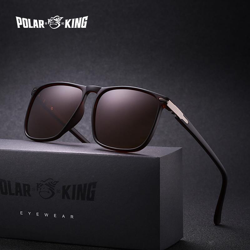 3a5d6a3215615 POLARKING Brand Square Polarized Sunglasses For Men s Fashion ...