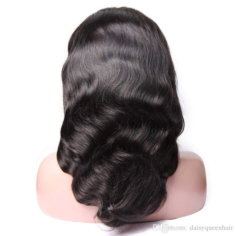 Body Wave Lace Front Human Hair Wigs For Black Women Pre-Plucked With Baby Hair Grade 8A Brazilian Virgin Hair Lace Wigs 8-26 Inch