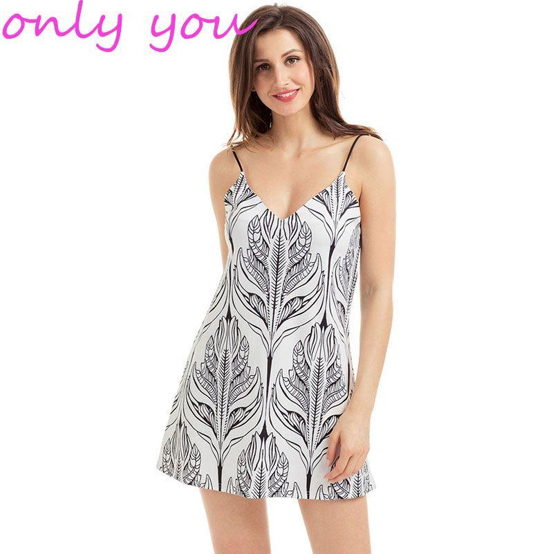 14cbfe90386 Beach Summer Dresses 2017 Elegant Boho Chiffon Tropical Palm Print  Spaghetti Strap Short Dress Vestido Curto LC220029 Cocktail Dress Juniors  Summer Flower ...