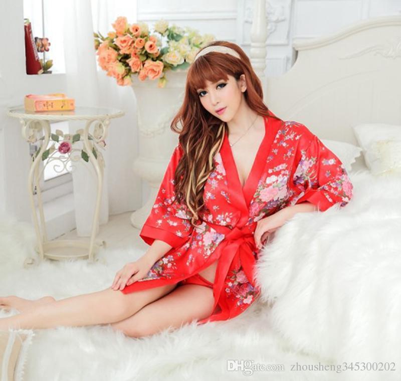 biancheria intima di alta qualità sexy lingerie con perizoma reggiseno cintura da notte esotico cheongsam pigiameria stile kimono le donne