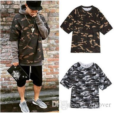 European And American Style Men S Camo T Shirts Kanye WEST Hiphop Camo Tops  Streetwear Short Sleeve Camo Shirts T Shirts Online White Shirt From  Qqlover 87bbf6e0c5b