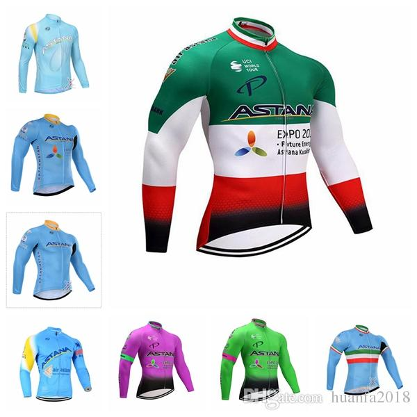 9d92adc9f ASTANA Team Cycling Long Sleeves Jersey Tight Bike Comfortable Breathable  Hot New Sweatshirt Cycling Clothing D2438 Cycling Shirt Cycle Clothing Sale  From ...
