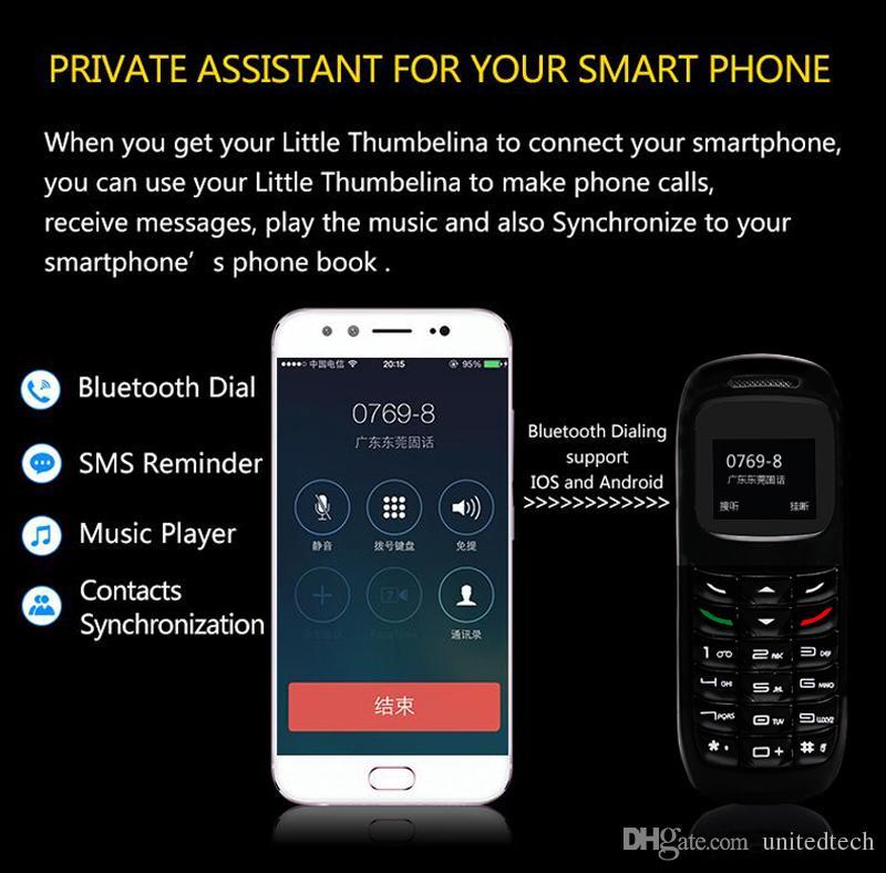 Original GT BM70 Headphone Pocket Cell Phone Wireless Mini Bluetooth Headset Earphone Dialer Stereo Support SIM Card Dial Call