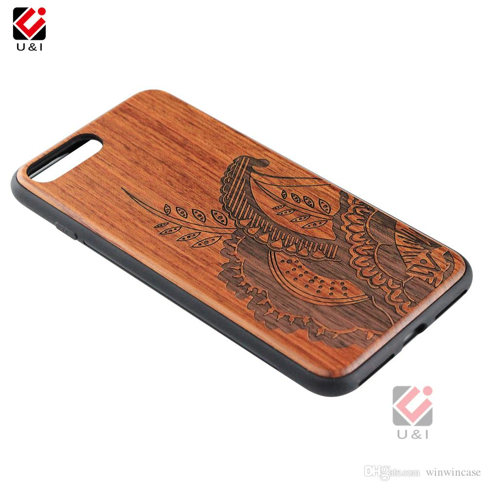 wooden phone case for iPhone 6 6s s 6plus 6splus plus, hybrid shockproof cover wood + pc + soft tpu rubber design for i Phone