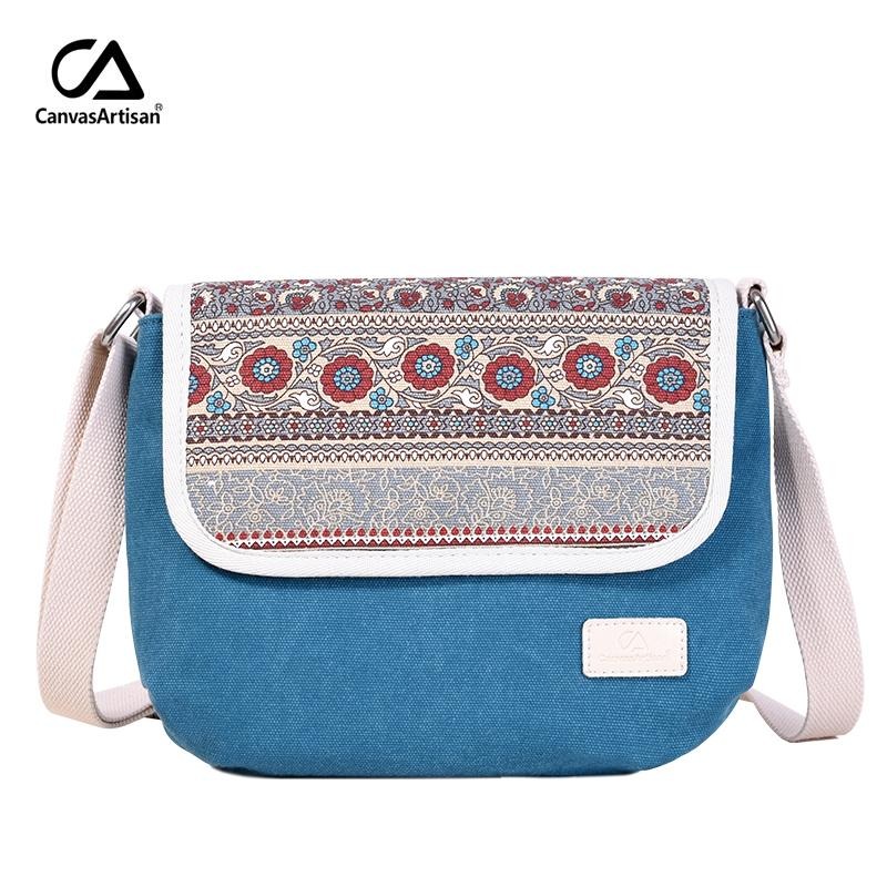 a72fc5eb30bf Canvasartisan New Women S Shoulder Bag Reteo Canvas Messenger Bag Floral  Style Female Daily Travel Crossbody Bags Top Quality Y18102404 Crossbody  Purse ...