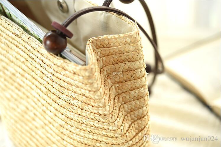 Women's Bag Beach Woven Bags For Summer Travel Womens Designer Shoulder Bags Ladies Knitting Women straw bag Handbags