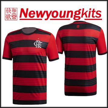 2018 19 Flamengo Home Jersey Red Black Football Shirt GUERRERO DIEGO  VINICIUS JR CONCA Soccer Shirt Flamengo Football Shirt Online with   17.76 Piece on ... a3b9c72bd