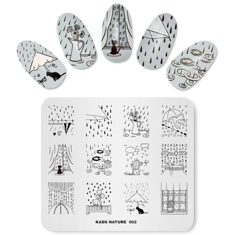 Missguoguo Nail Design Tools Stamping Templates Fingernail Design