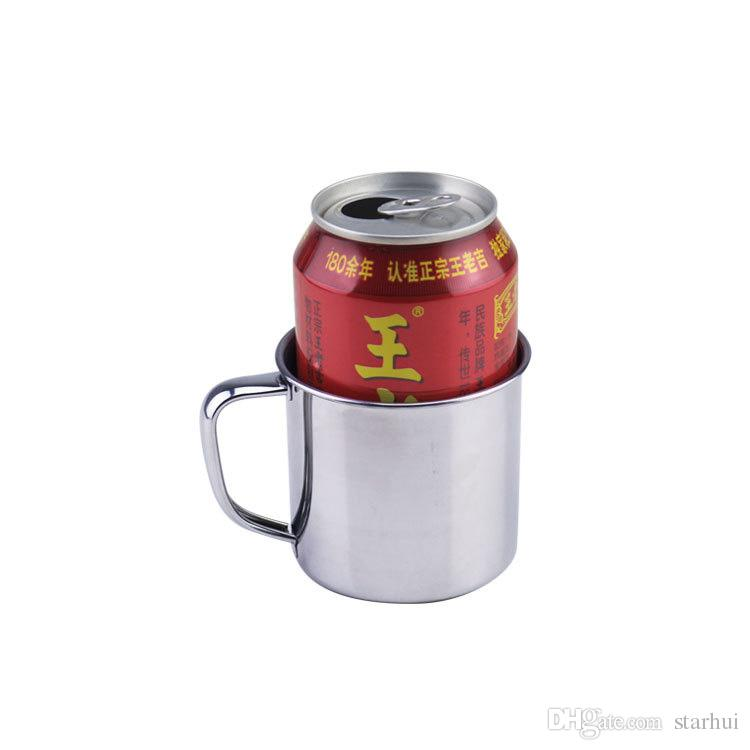 250 Ml Edelstahl Kaffee Tee Becher Cup Camping Reise Durchmesser 7 cm Bier Milch Espresso Insulated Bruchsicher Kinder Tasse WX9-303