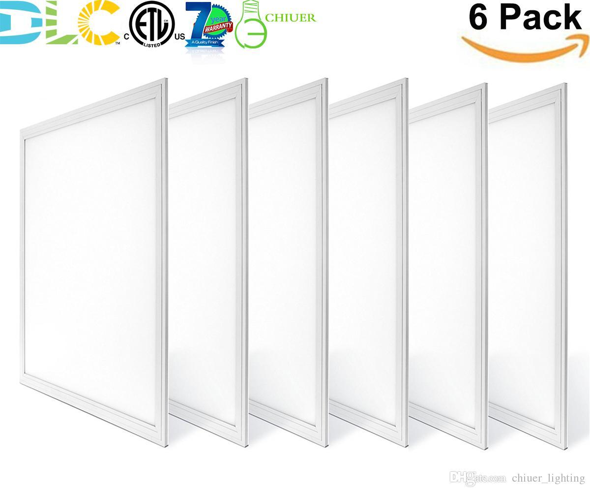 30W 40W 2x2ft LED Panel Light Flat Ceiling Fixture Fluorescent Troffer  Replacement Drop Ceiling Light 0-10V Dimmable Daylight ETL DLC
