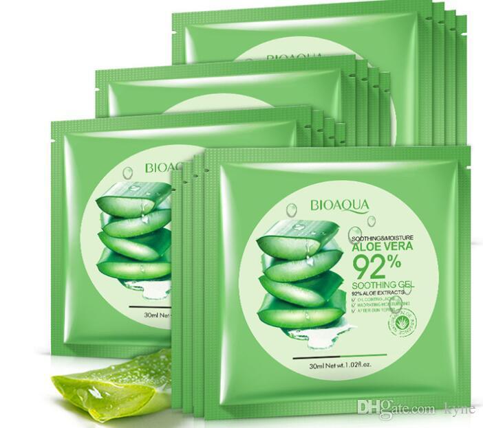 Neue arrivalBIOAQUA Natürliche Aloe Vera Gel Gesichtsmaske Feuchtigkeitsspendende Ölsteuer Eingewickelte Maske Schrumpfen Poren Gesichtsmaske Kosmetische Hautpflege