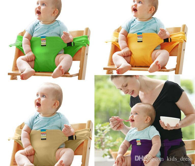 Baby Portable Seat Children Dining Chair Belt Candy colors Eat Chair Seat Belt Dining Seat Harness Baby Belt Safety KKA4048
