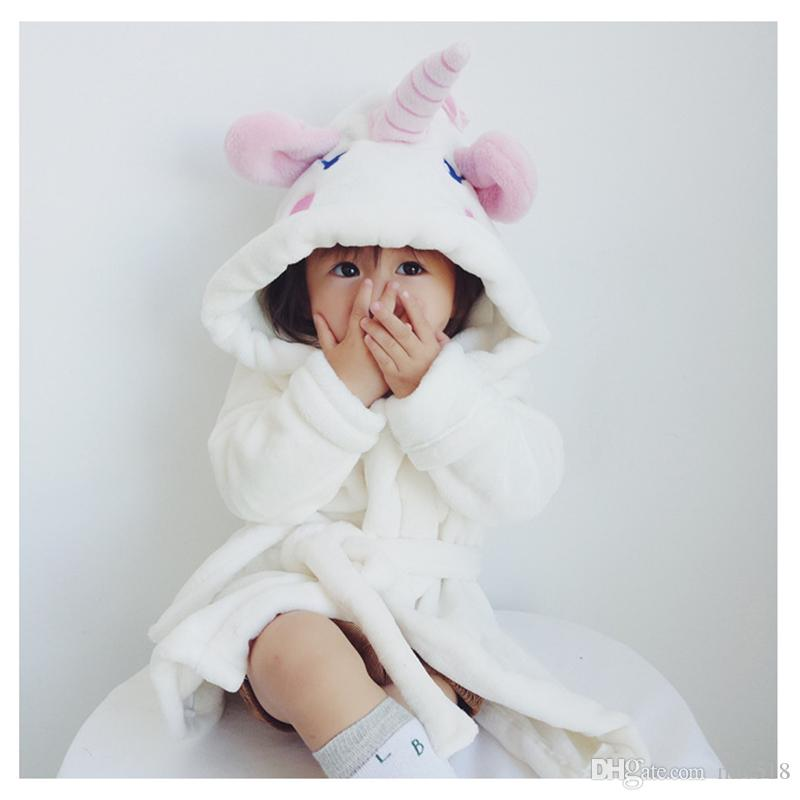 2018 Children\'S Bathrobes Unicorn Style Heed Terry Bathrobe For ...
