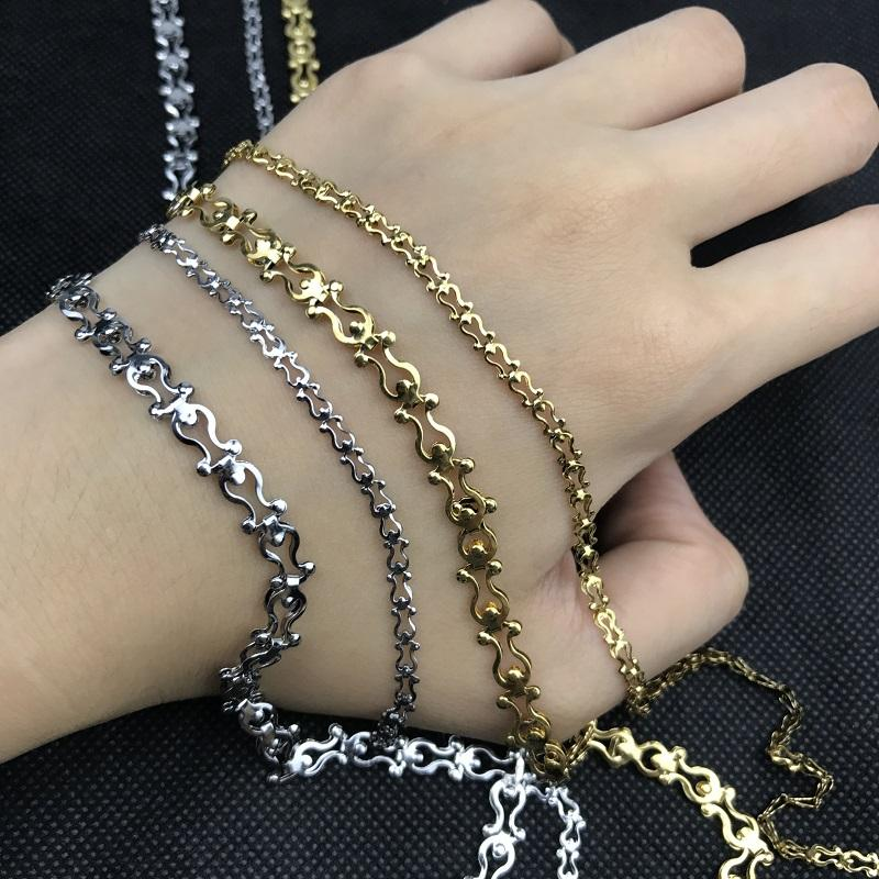 a0bea005e7b29 USENSET Fashionable Gold and Silver Tone Cown Chain Necklace DIY Stainless  Steel Jewelry Personality Necklace Factory Price