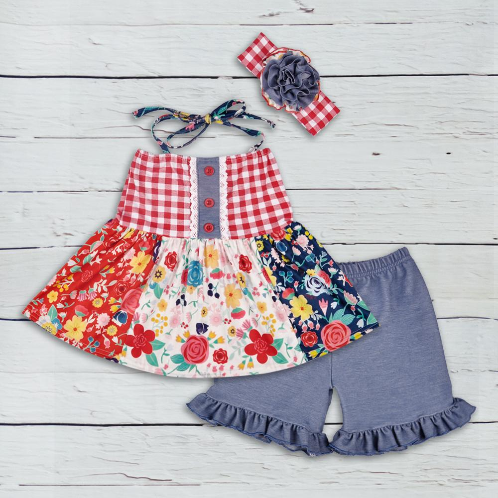 596a6d3a403d 2019 Cheap Price Baby Girls Summer Wholesale Clothing Flower Sleeveless Top  Ruffle Cotton Shorts Children Remake Outfit 2GK803 295 Y1892906 From  Shenping01