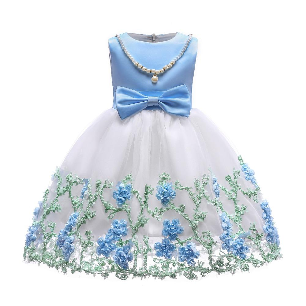 edcf2a2755b1 2018 Girls Dress Summer Floral Sleeveless Princess Birthday Clothing  Children Fashion Christmas Wedding Party Vestidos High Quality Dresses  Dresses Dresses ...