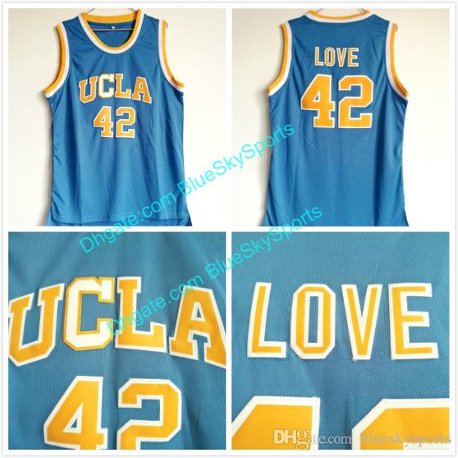 867d4668ccfd 2019 Men S UCLA Bruins  42 Kevin Love Jersey Baby Blue Stitched College Basketball  Jersey Fast Size S XXL From Blueskysports
