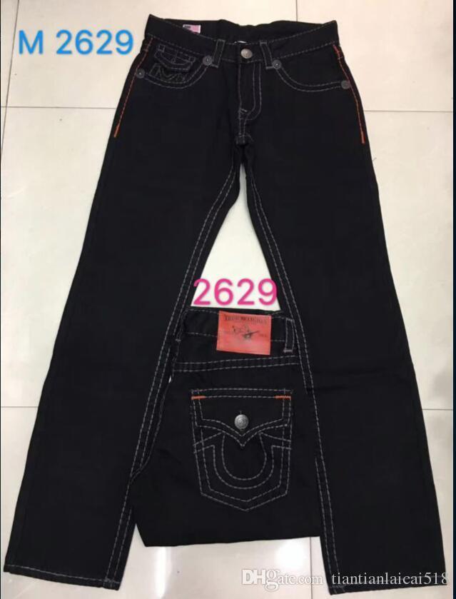 High quality NEW hot Men's Robin Rock Revival Jeans Crystal Studs Denim Pants Designer Trousers Men's size 30-40 8030