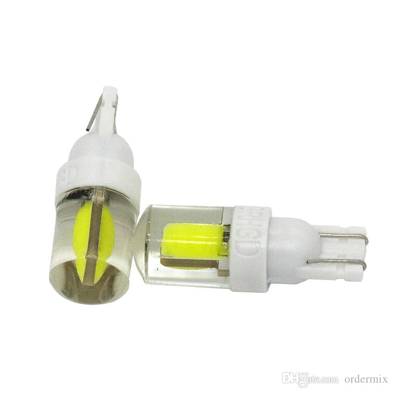 1 unids Nuevo T10 194 2825 W5W Caso de Sílice COB LED Cuña Impermeable Luz de marcador de Coche luz de lectura lámpara de cúpula Auto bombillas de estacionamiento 12 V