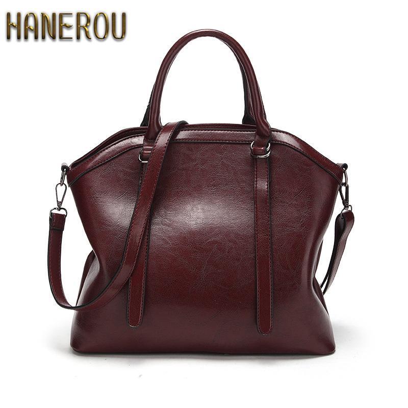 6ccc9dfcb0ad 2018Brand Women Bag Fashion Shoulder Bag High Quality Handbag Casual Large  Capacity Tote Female Vintage PU Leather Crossbody Bag Y18102904 Handbag  Sale ...