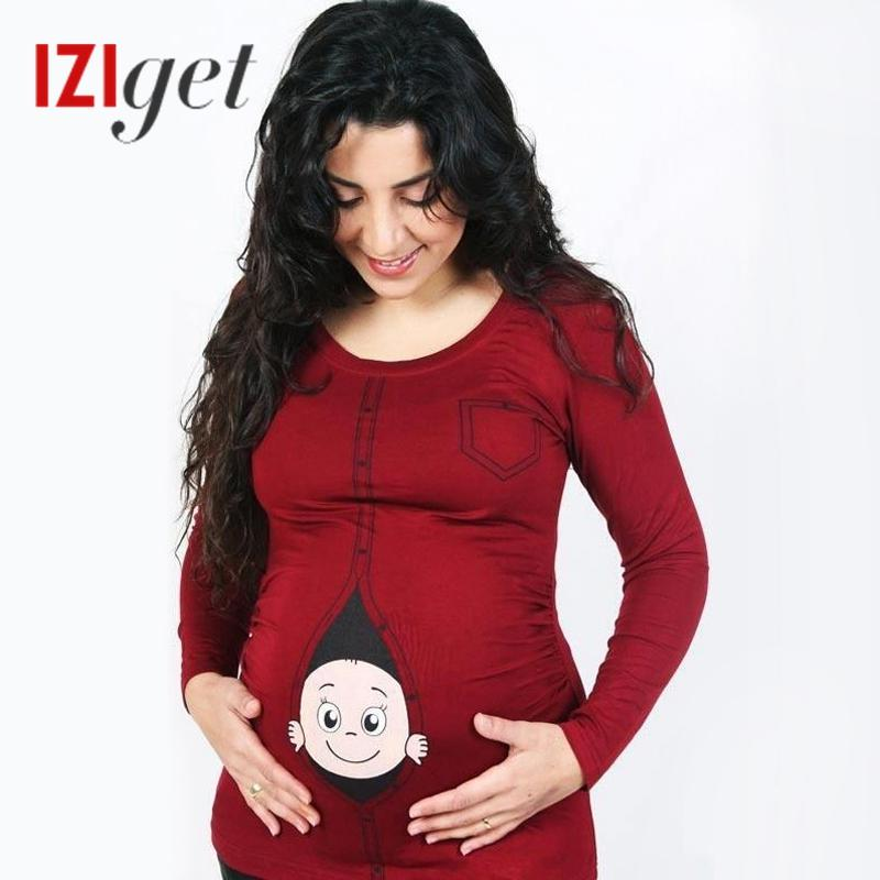 305dbc58c Test New Plus Size Design Tops Women T Shirt Funny Baby Peeking Out Printed  Maternity Pregnancy Shirts Ts Shirt Buy Funny T Shirts From Blueberry13, ...